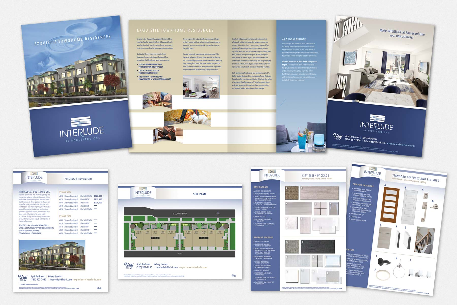 Brochure Design for Interlude at Boulevard One in Lowry