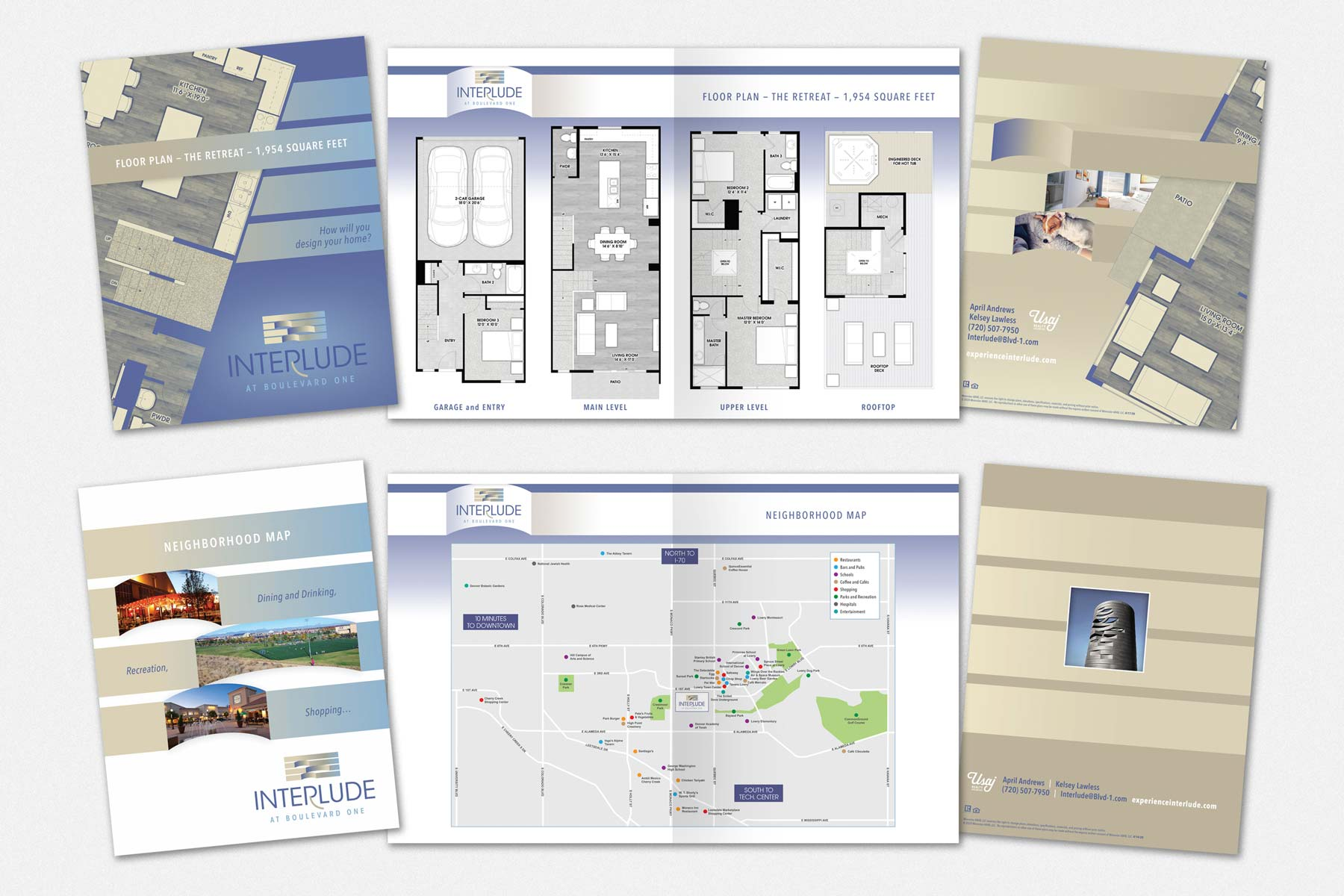 Floor Plan Brochure for Interlude at Boulevard One in Lowry