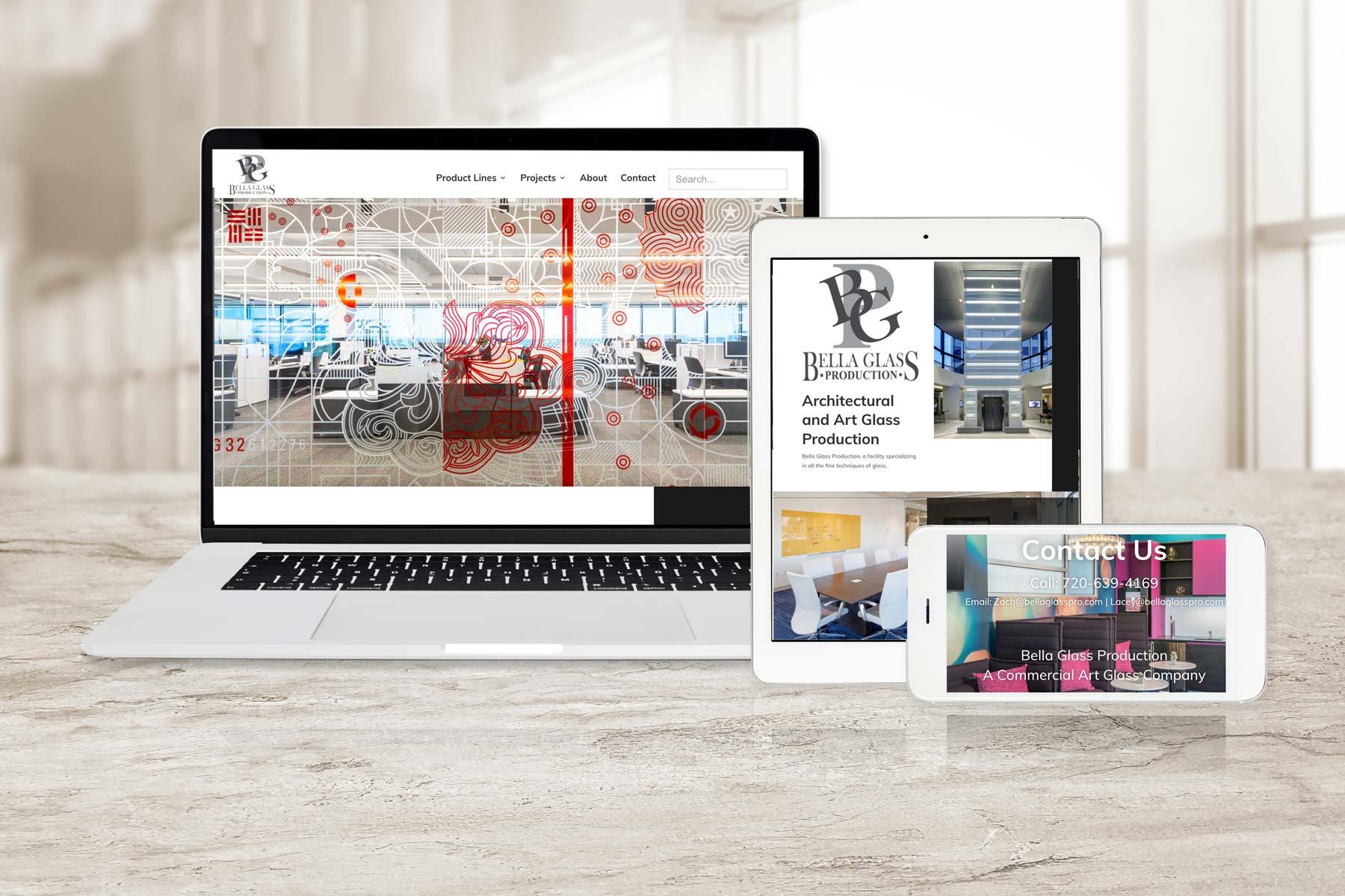 Bella Glass Website Design