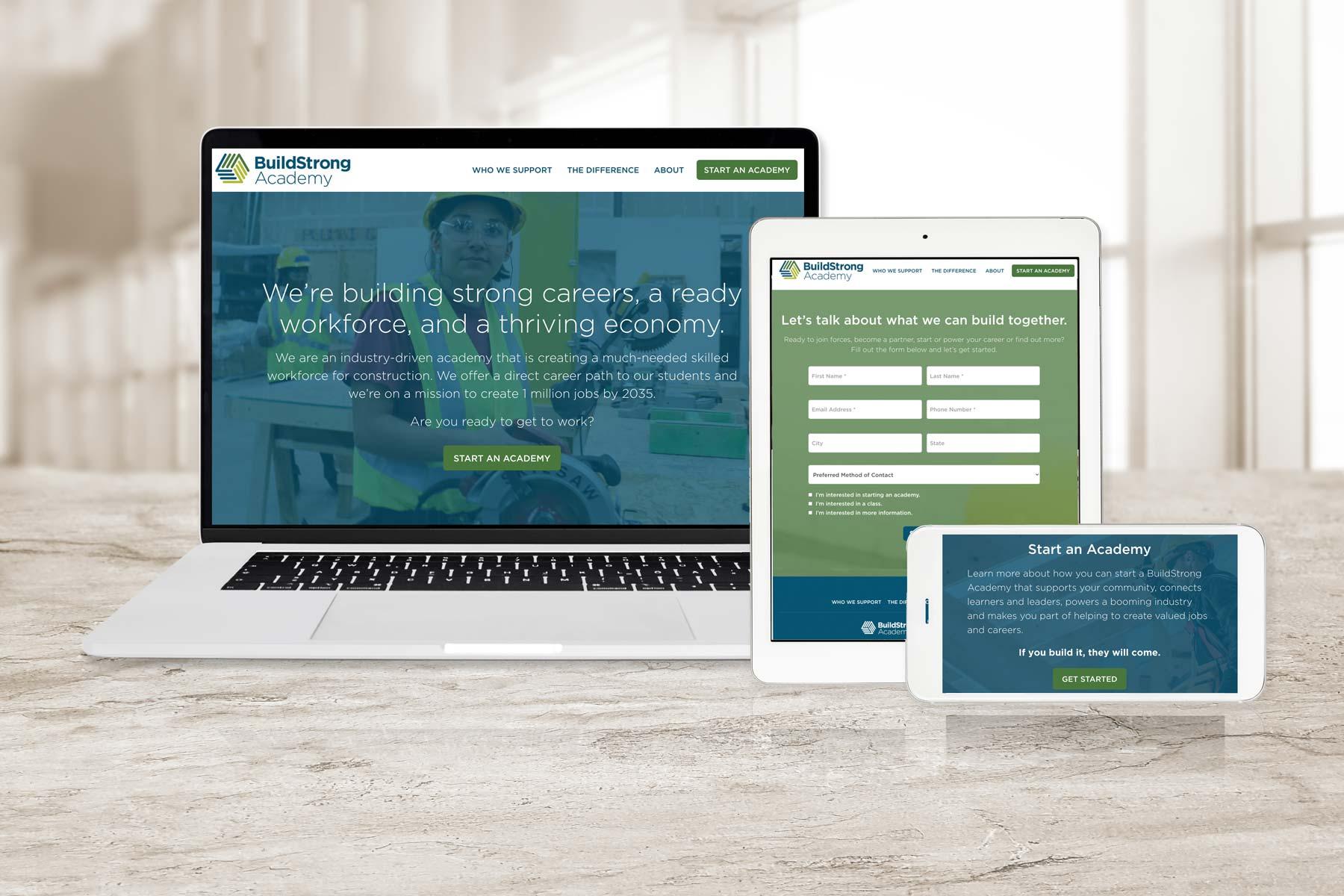 BuildStrong Academy Website Design