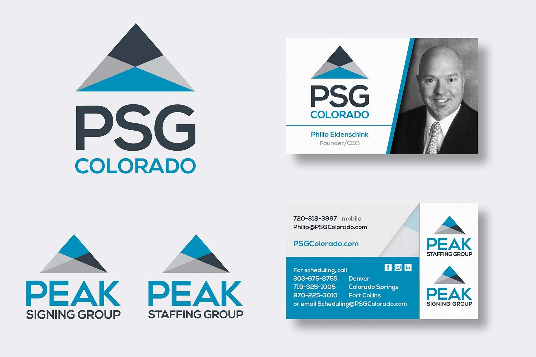 Peak Staffing Logo & Business Card Layouts
