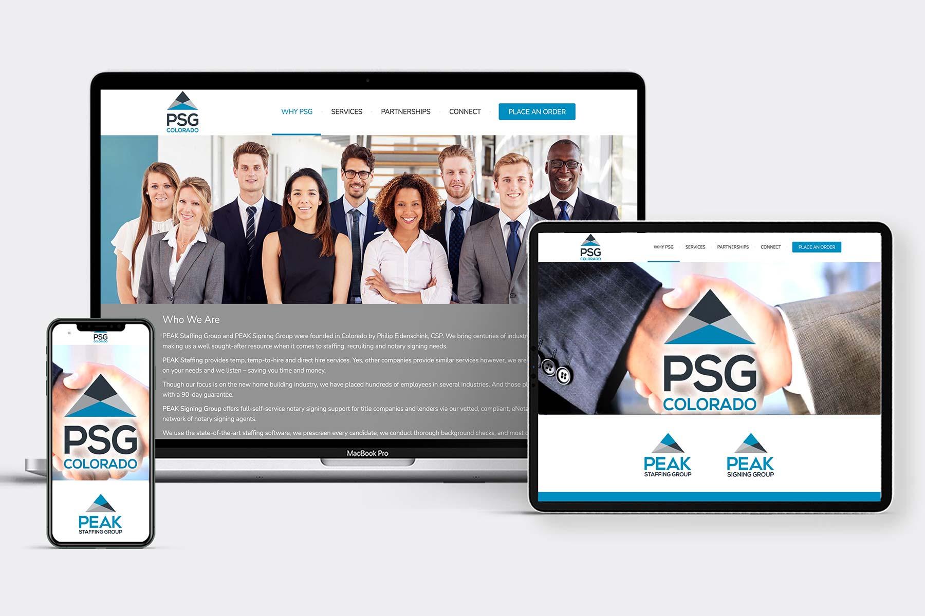 Peak Staffing Website Design